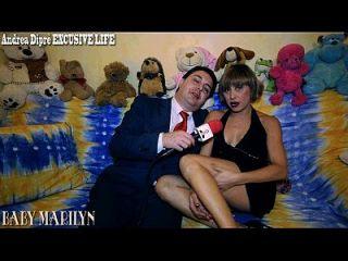 baby marilyn se masturba com um würstel para andrea diprè