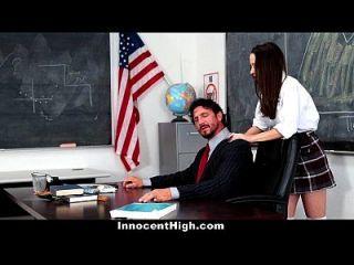 garota da escola innocenthigh desesperada pelo galo do professor