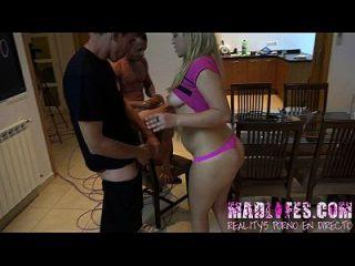 Madlifes.com reality show porno español orgia de los concursantes