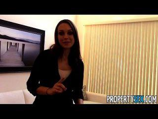 Propertysex agente imobiliário motivado usa sexo para obter novo cliente