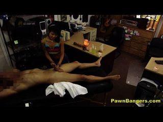 gerente de loja foda massagista asiática quente
