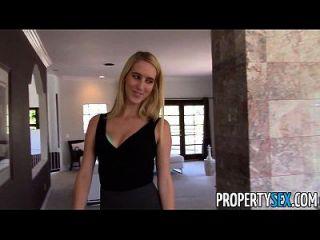 Propertysex super fine esposa engana seu marido com agente imobiliário
