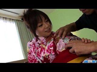 Nozomi hazuki recebe um enorme pau naquele vagão quente