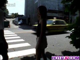Sayaka hagiwara arrebentou tocado ao ar livre e fodido na casa