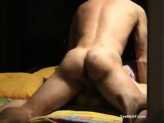 Gf dá blowjob e recebe sexo anal