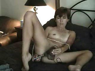 Amador, maduro, peludo, milf, mãe, solo, masturbando, vibrador, brinquedos