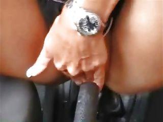 Masturbação garota alemã com carro