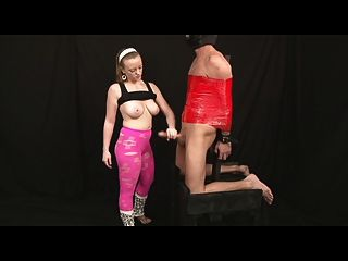 Handjob femdom com galo enorme