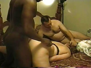 Relógios cuck assed grande esposa tomar uma semente BBC