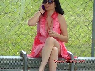 Esposa exibicionista # 44 parada de ônibus piscando russo milf tatiana