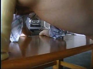 Menina asiática anal dildo