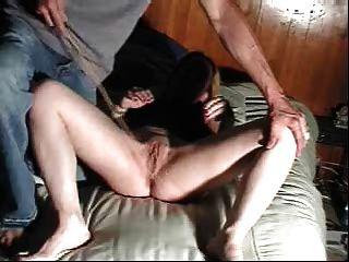 Chicoteado e caned pussy