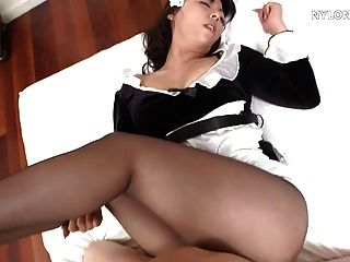 Japanese pantyhose maid sexo nylon fuck