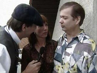 Velho casal alemão obter entrevistado e depois foder