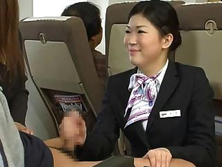 Japanese stewardess handjob censurado