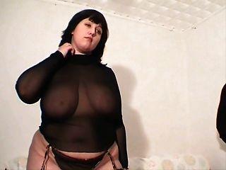 Garota gordinha em lingerie