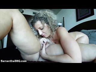Grandes tit pornstars samantha 38g e sara jay lick pussy