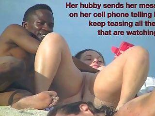 Esposa exibicionista betty suga galo preto fora da praia de nudismo