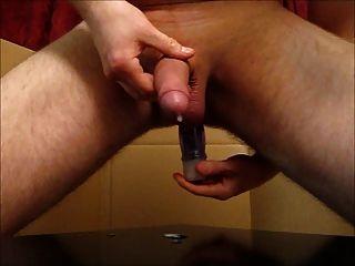 Ordenha de próstata com grande corrida