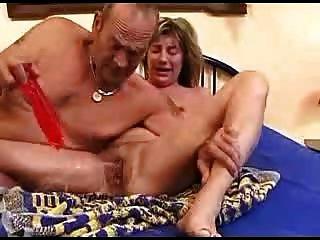 Kinky, maduro, par, embeber, cama, 2