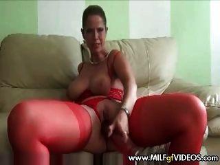 Bbw mulher amadora em meias