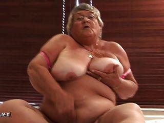 Velha amadora granny masturbate em cam