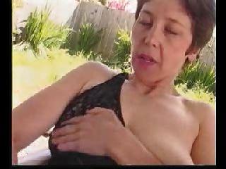 Maduro, peludo, pussy, esfregar