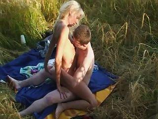 Sexo ao ar livre com 18