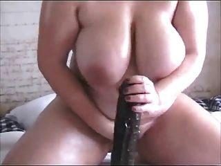 Gorda córnea bbw ex gf com grandes mamas sentado no preto vibrador
