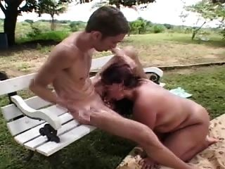 Shag no parque w menina grande