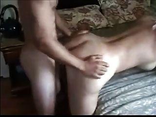 Linda, loira, milf, desfrutando, anal, Menino, Menino