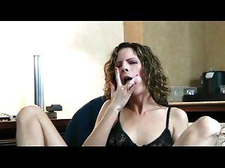 Esposa, maturando, orgasmo