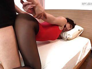 Meias meias em meia-calça de nylon leotard