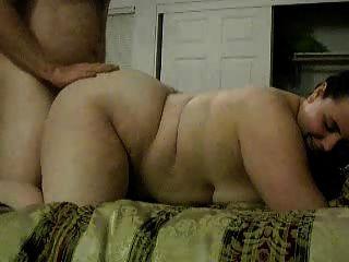 Sexo e creampie gordurosos ásperos do par