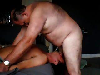 Gordo, papai, fode, jovem, sujeito