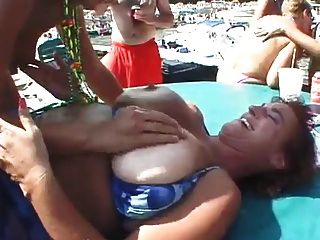 Maduras cachondas praia
