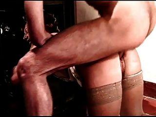 Hairy curler milf fica anal do homem azul