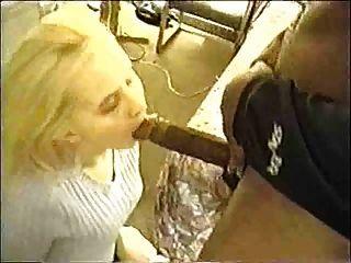 Jovem, esposa, chupando, bbc