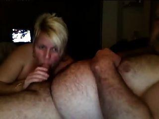 Casal maduro Inglês chupar e foder na webcam