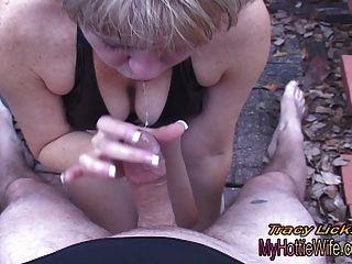 Tracy licks .... quer chupar seu pau!Pov vídeo amador