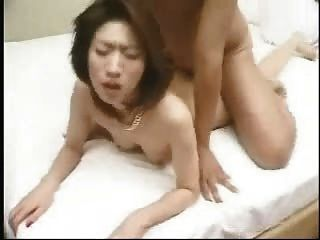 Asiático, milf, doggystyle, fodido, corpo, cumshot