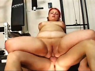Quente bbw saggy barriga fica anal