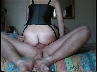 Esposa dá a sua cereja anal