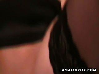 Namorada amador loira quente suga e fode com facial