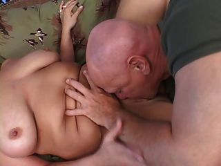 Bbw loira fica fodido e mamas cobertas de cum