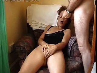 Esposa, masturbando, frente, dela, marido