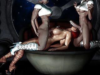 Sexy 3d art 2 transsexual foda uma menina (muito quente)
