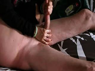 Handjob e bolas massageadas