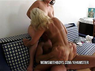 Ação anal com 2 hot maduros e jovens stud