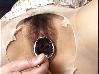 G ponto orgasmo espalhando com espéculo